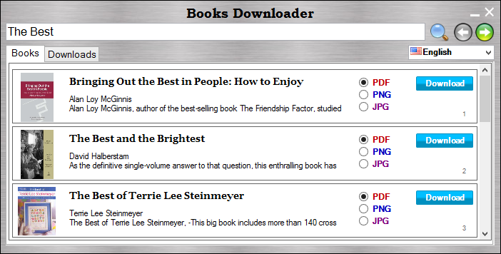 Free Books Downloader. Click to see the full-size image.